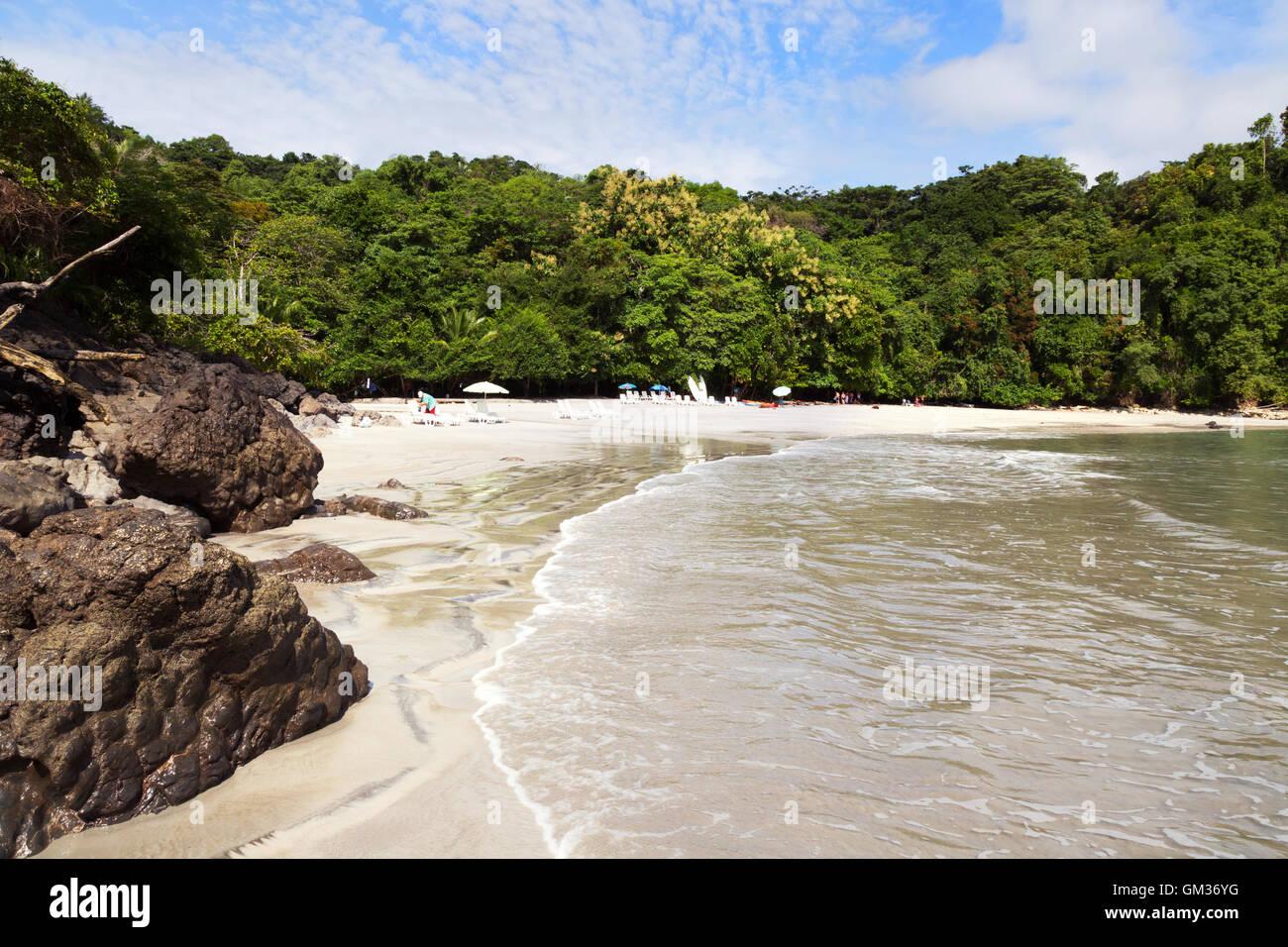 Costa Rica - Playa Plage Plage de Biesanz, parc national Manuel Antonio, la côte du Pacifique, le Costa Rica, Photo Stock