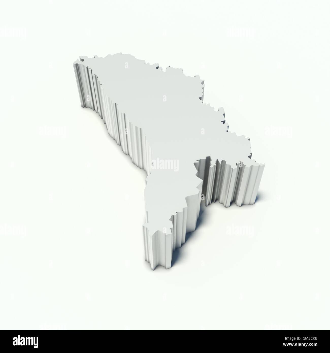 carte de la Moldavie Photo Stock