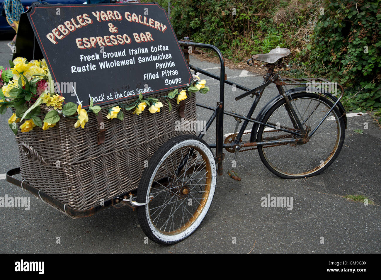 Pays de Galles Pembrokeshire St David's. Publicité Location d'un café-bar Photo Stock