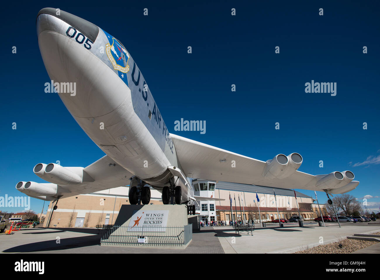 Boeing RB-52B Stratofortress, Wings Over the Rockies Air and Space Museum, Denver, Colorado. Banque D'Images