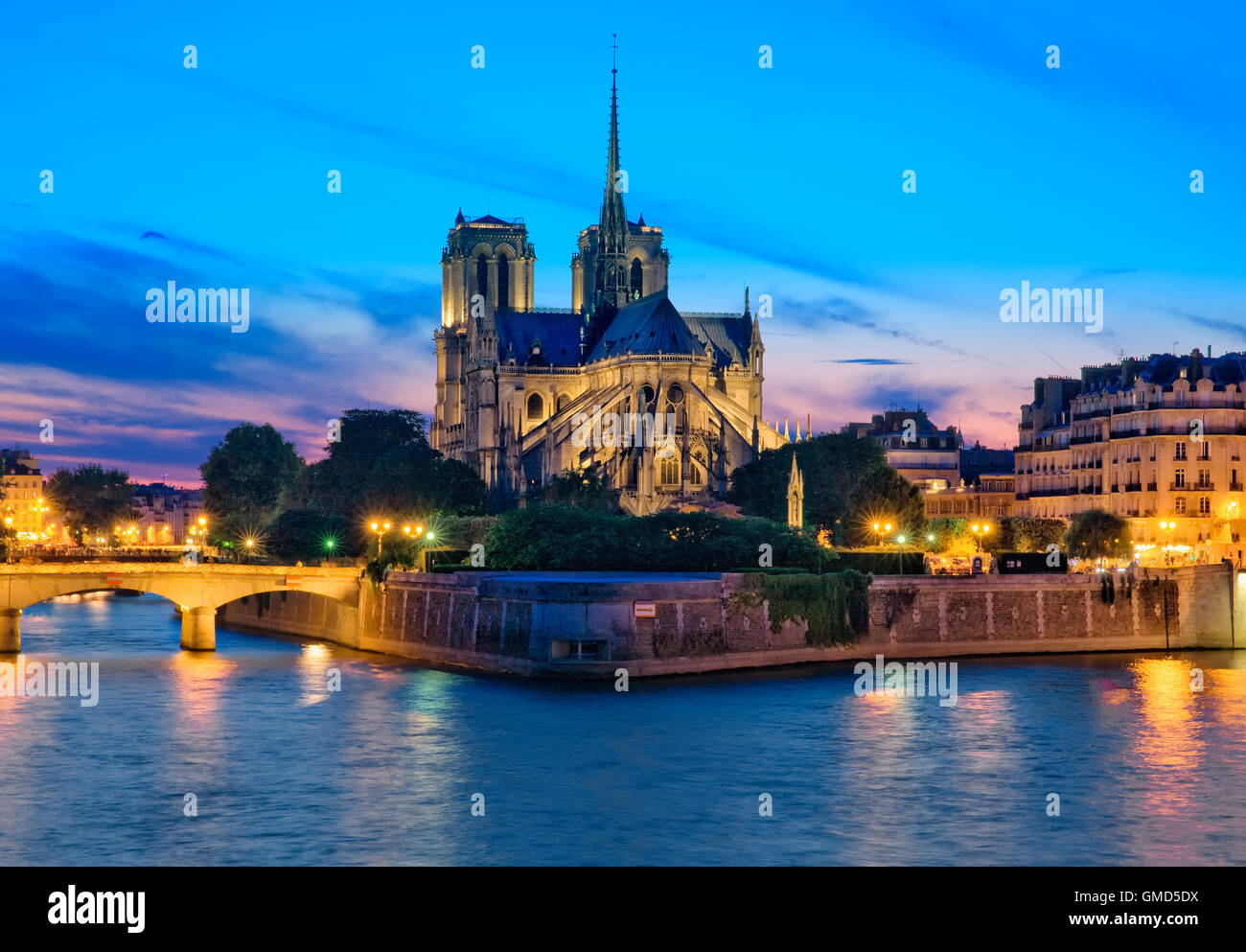 Cathédrale Notre Dame de Paris, France Photo Stock