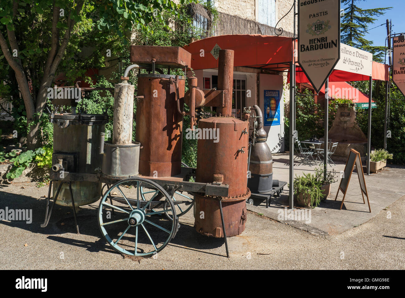 Distillerie Henri Bardouin, Forcualquier, Provence, France, Europe Photo Stock