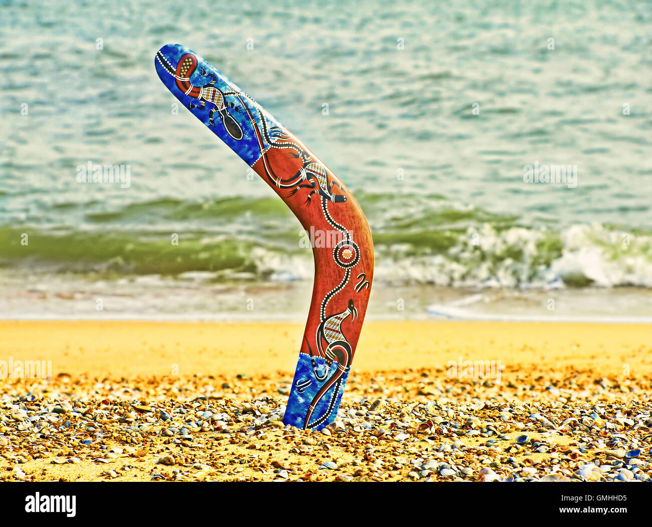 aborigine boomerang photos aborigine boomerang images alamy. Black Bedroom Furniture Sets. Home Design Ideas