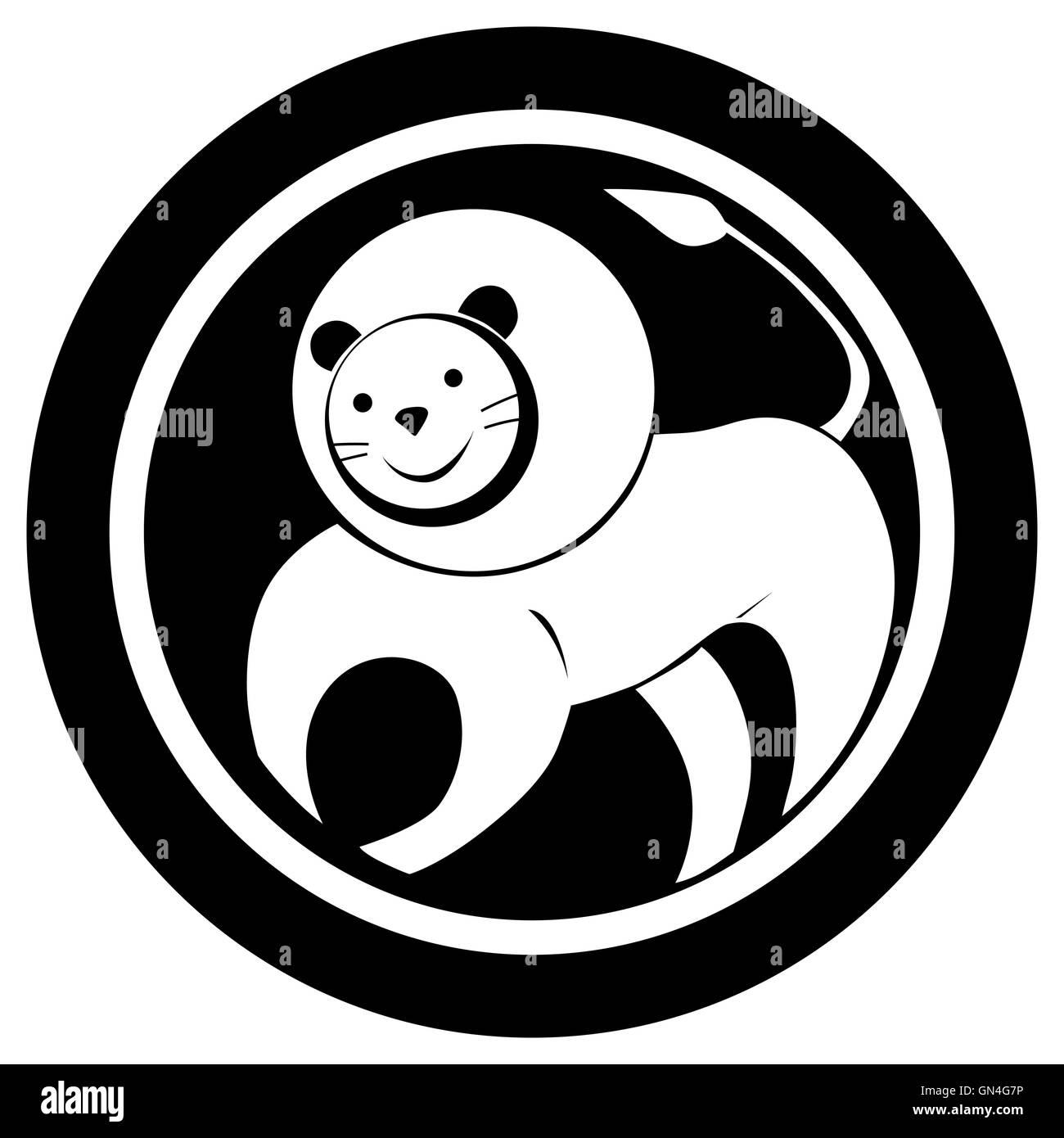 Signe Du Zodiaque Lion Tattoo Banque D Images Photo Stock