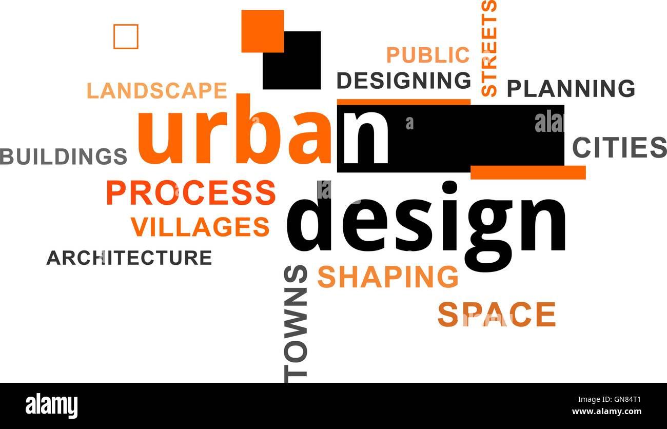 Nuage de mots - conception urbaine Illustration de Vecteur