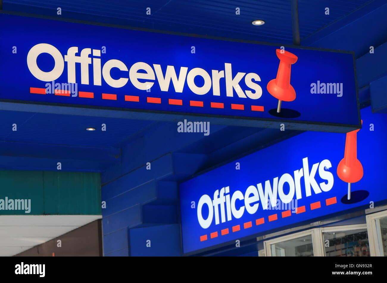 Officeworks papeterie Australie Photo Stock