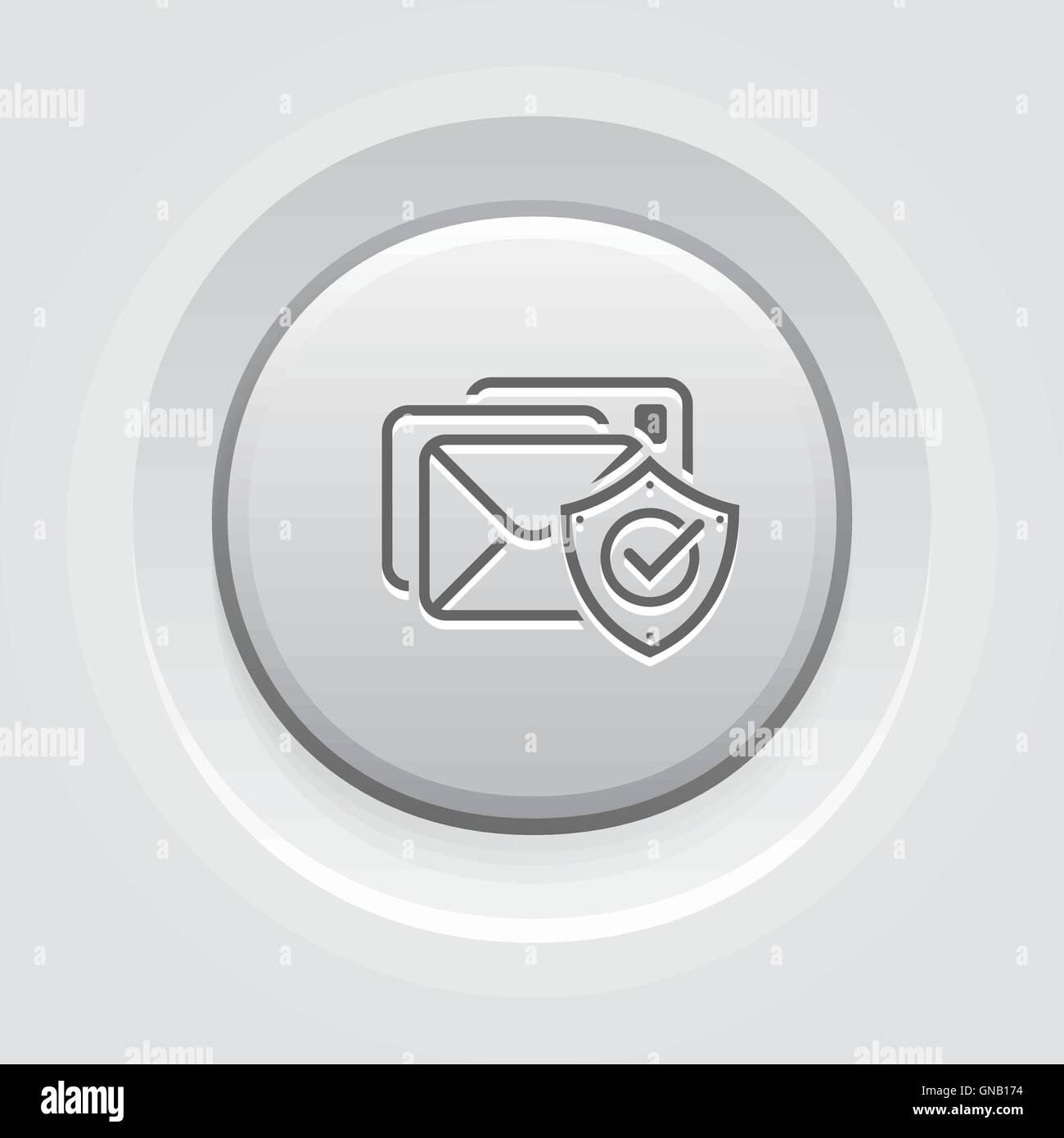 L'icône de la protection de l'E-mail Photo Stock