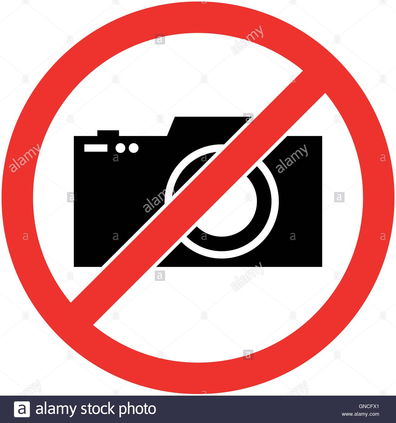 Aucune photographie, photo interdite symbole. Vecteur. Illustration de Vecteur