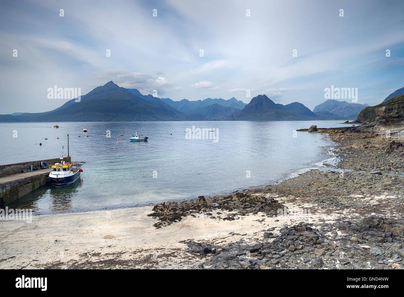 Des bateaux de pêche à l'ergol sur l'île de Skye en Ecosse Photo Stock