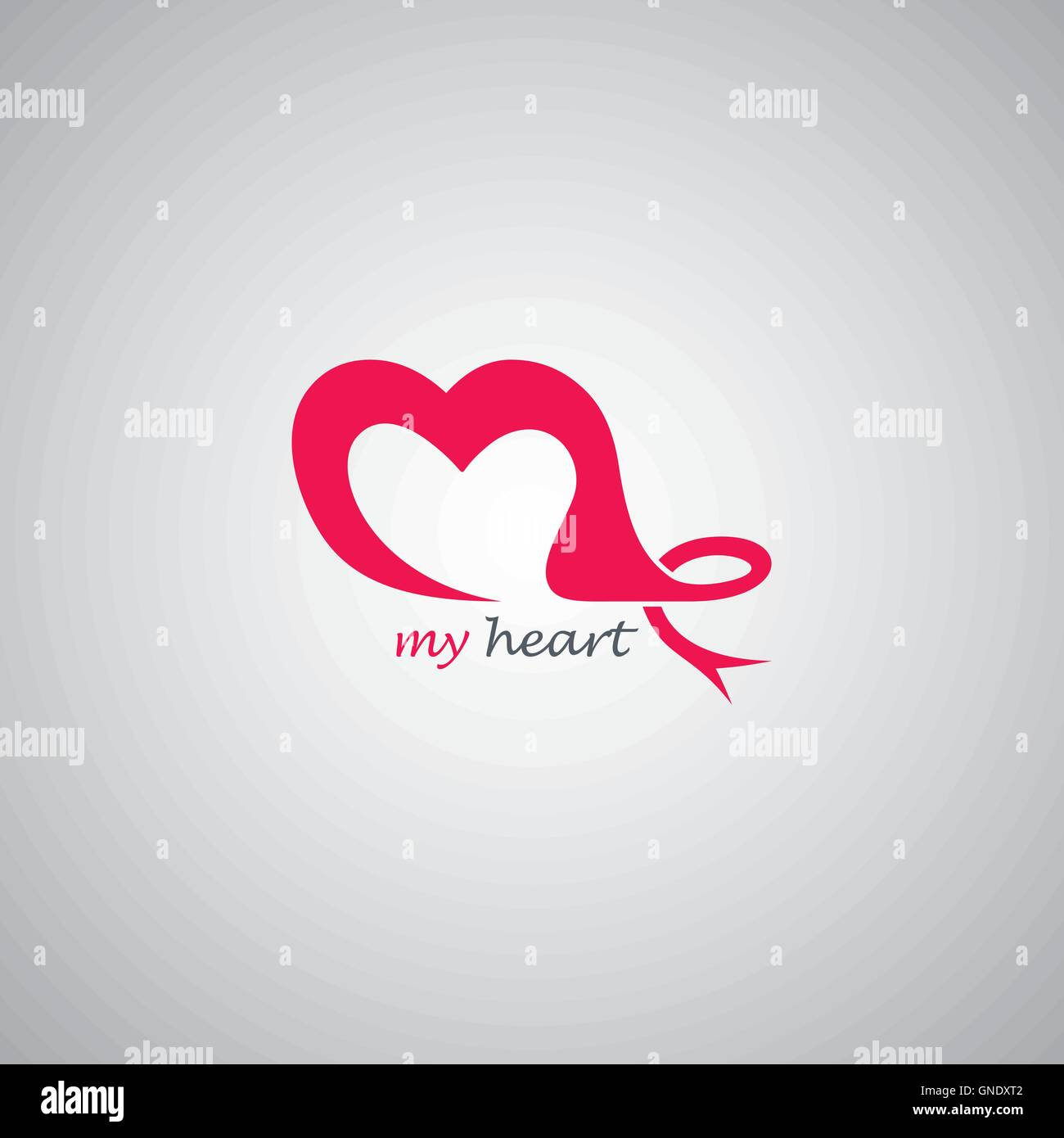 Thème amour modèle logo Illustration de Vecteur