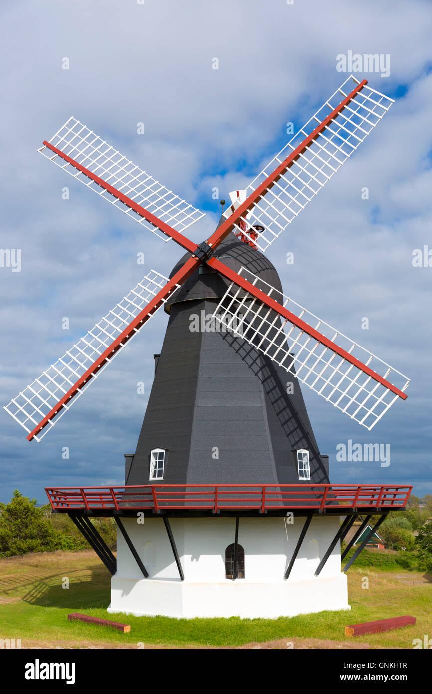 Sonderho Molle moulin pour l'énergie éolienne sur l'île de Fano - Adresses importantes Tidevand Photo Stock