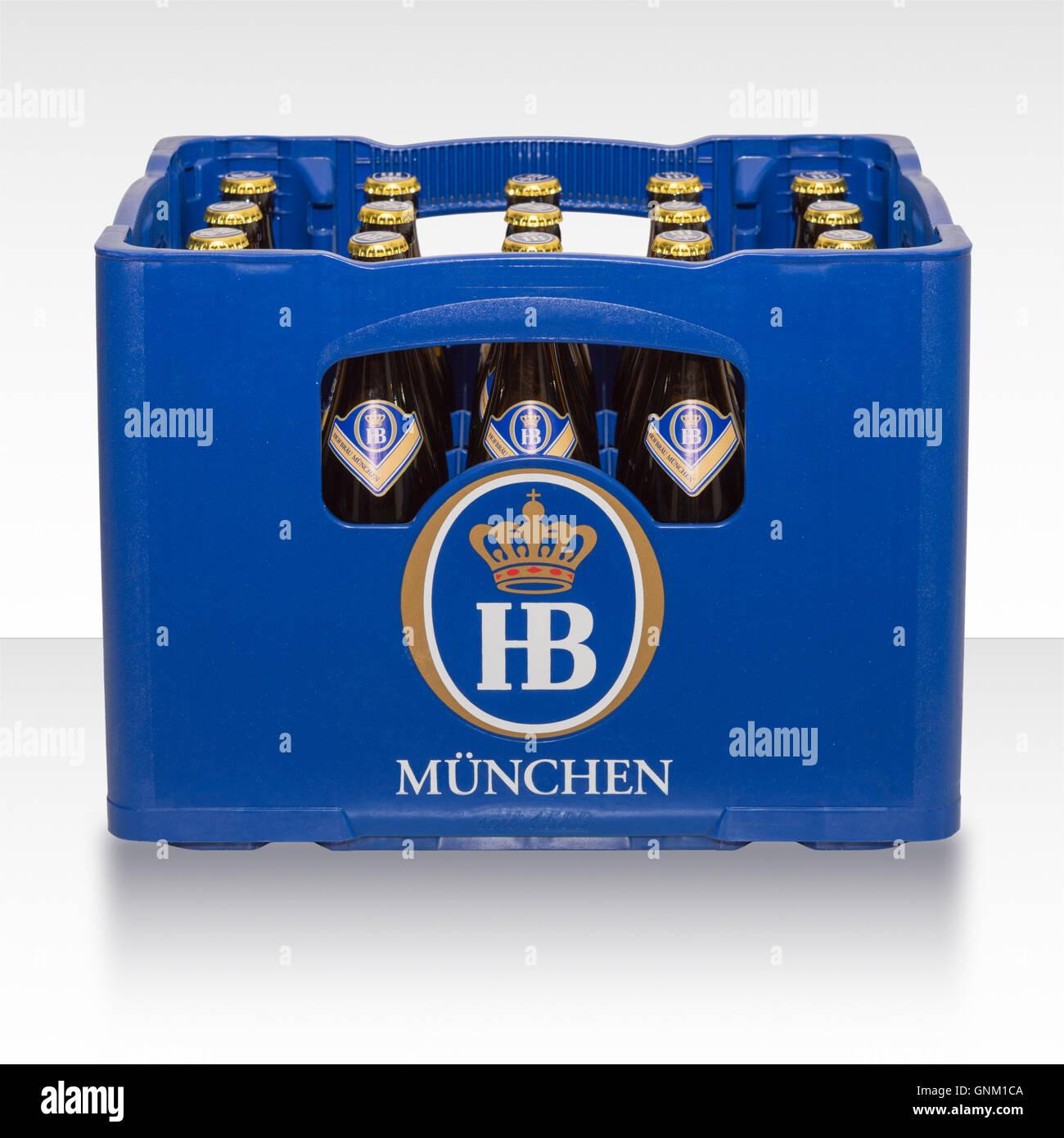caisse en plastique de la bote de bire allemande classique traditionnelle de brasserie bavaroise munich hb - Caisse Biere Plastique