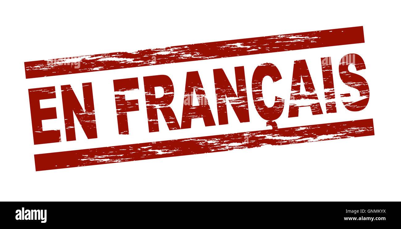 Stamp - en francais Photo Stock