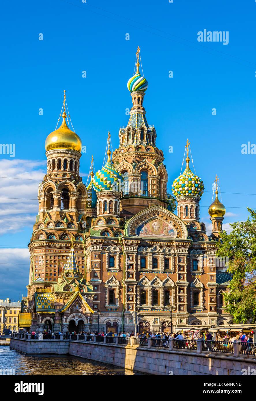 Eglise du Sauveur sur le sang - Saint-Pétersbourg, Russie Photo Stock
