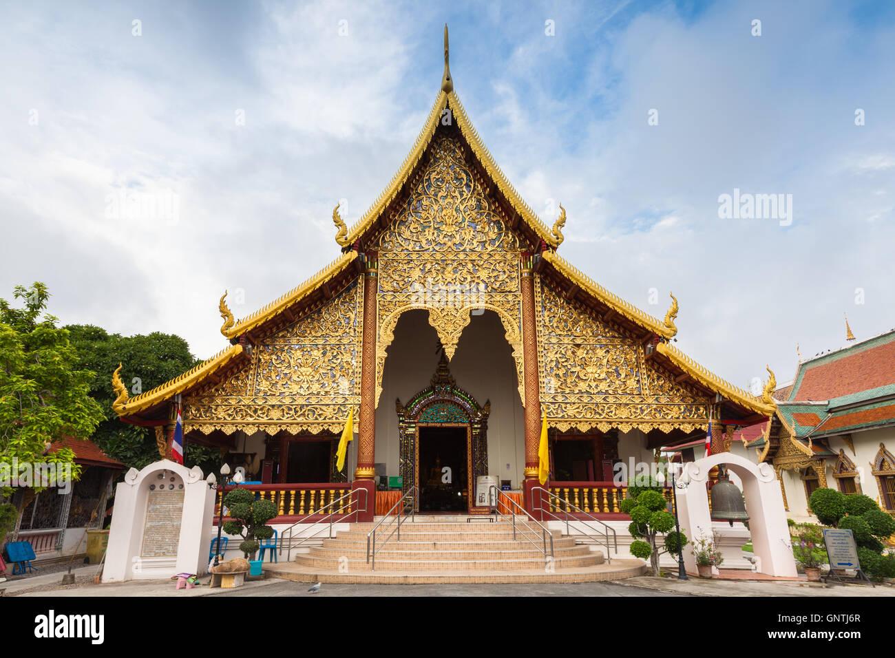 Wat Chiang Man, le plus vieux temple de Chiang Mai, Thaïlande Photo Stock