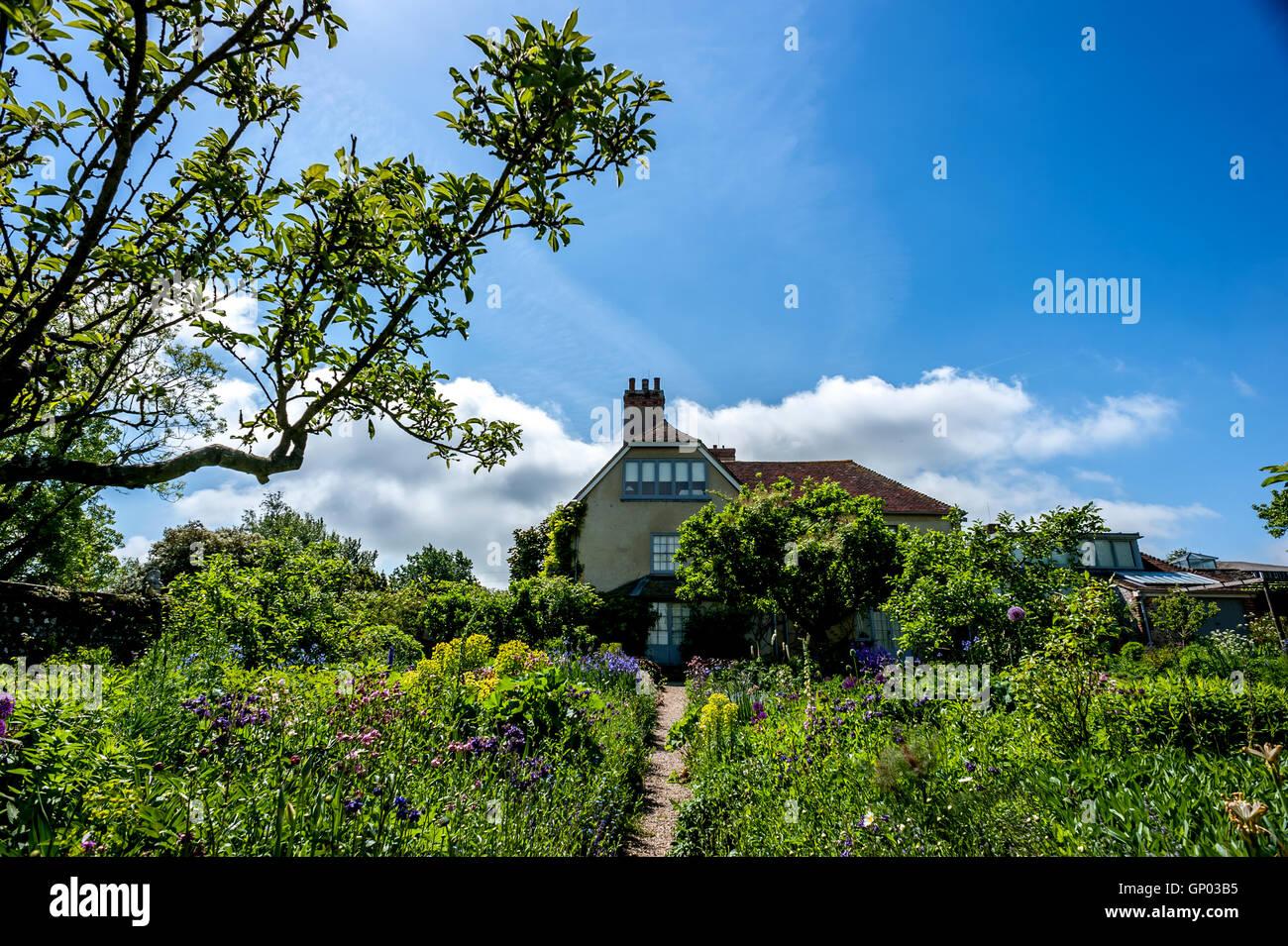 Charleston Farmhouse, le home du Bloomsbury Group dans l'East Sussex. Banque D'Images