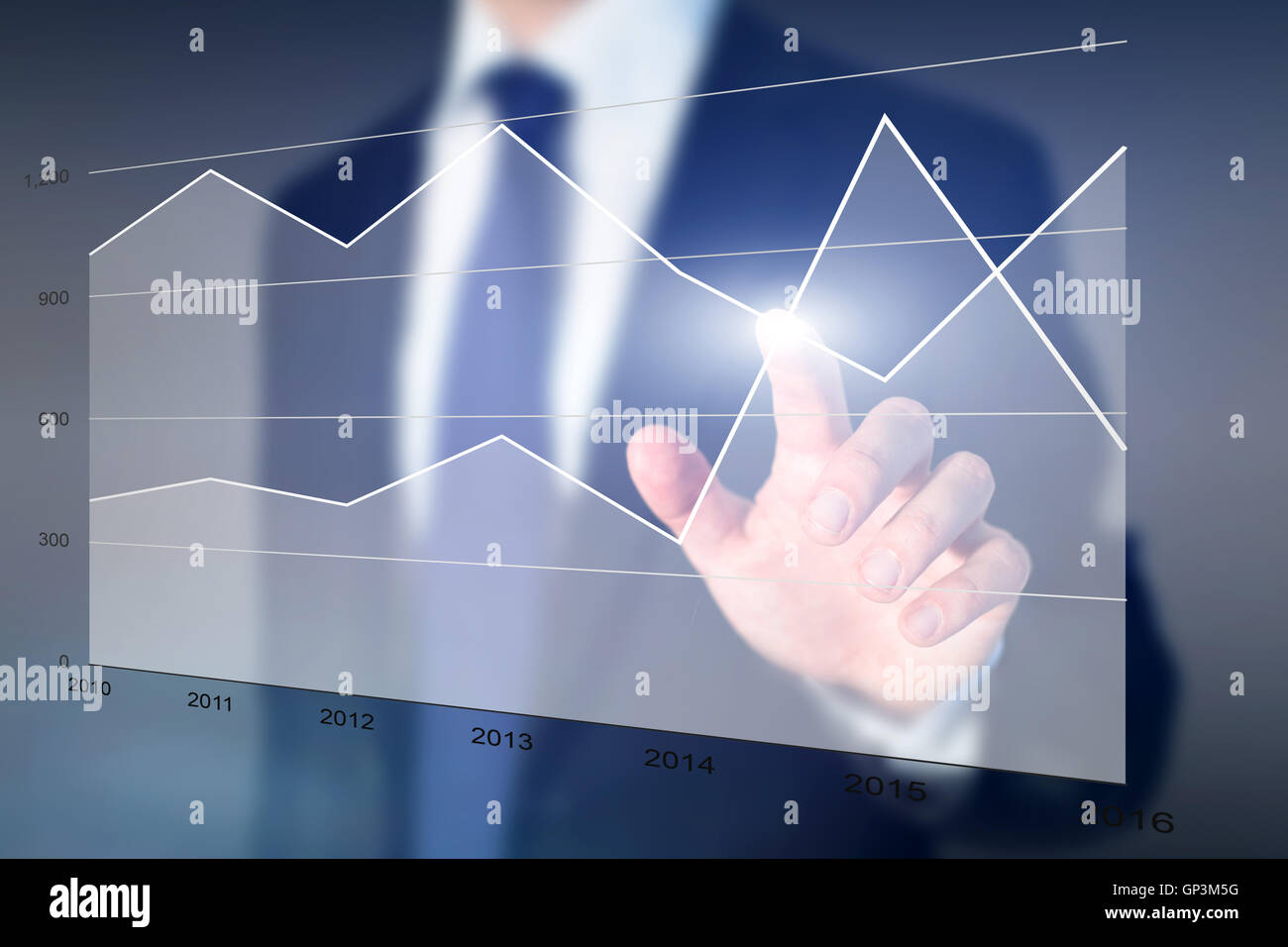 Les ventes et les dépenses, les performances de l'analytics Photo Stock