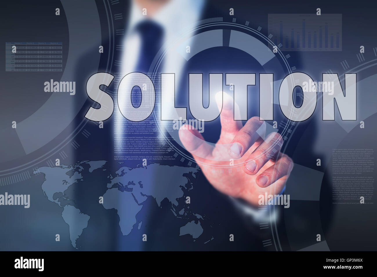 Concept de la solution Photo Stock