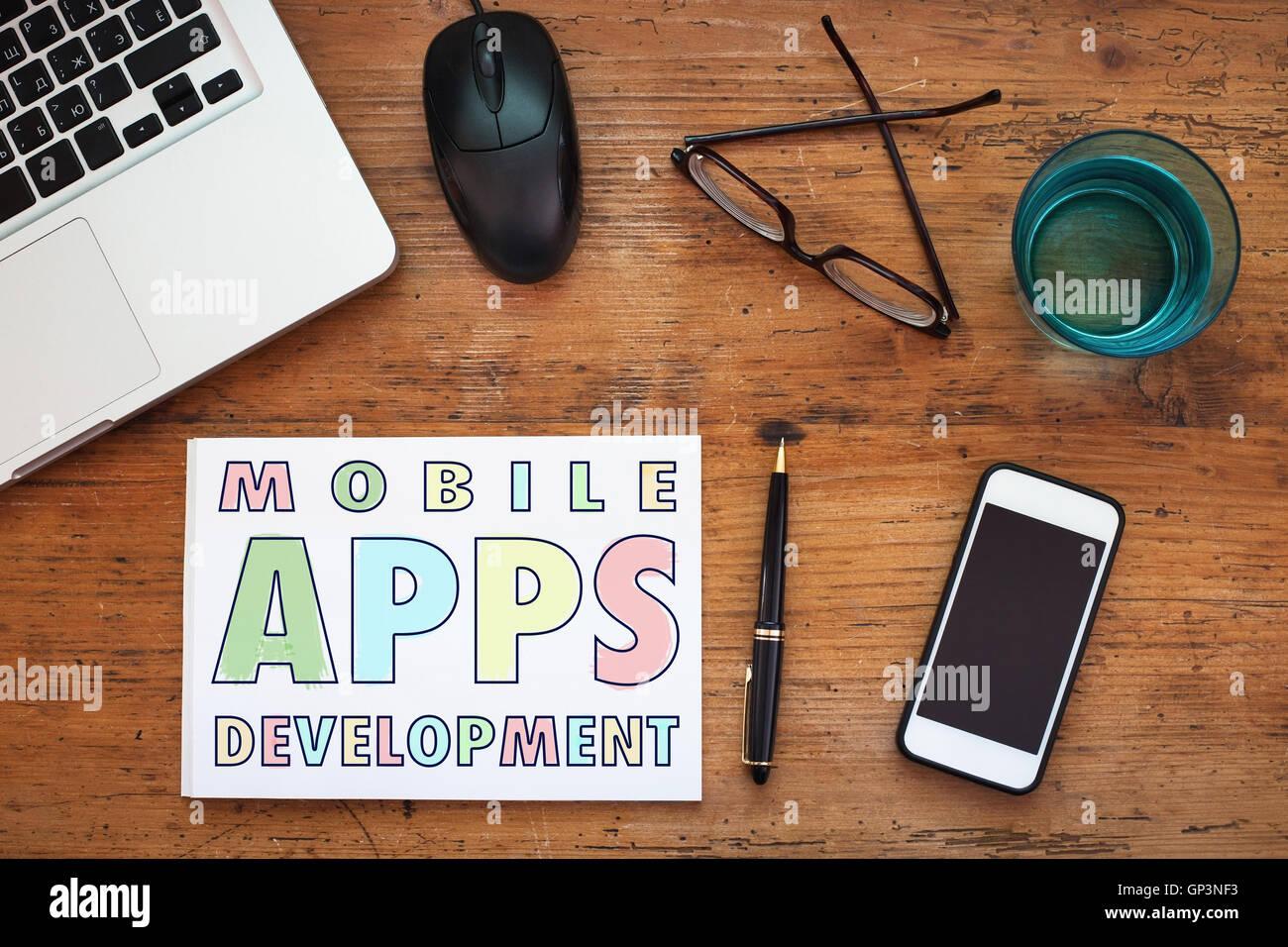 Développement d'applications mobiles Photo Stock