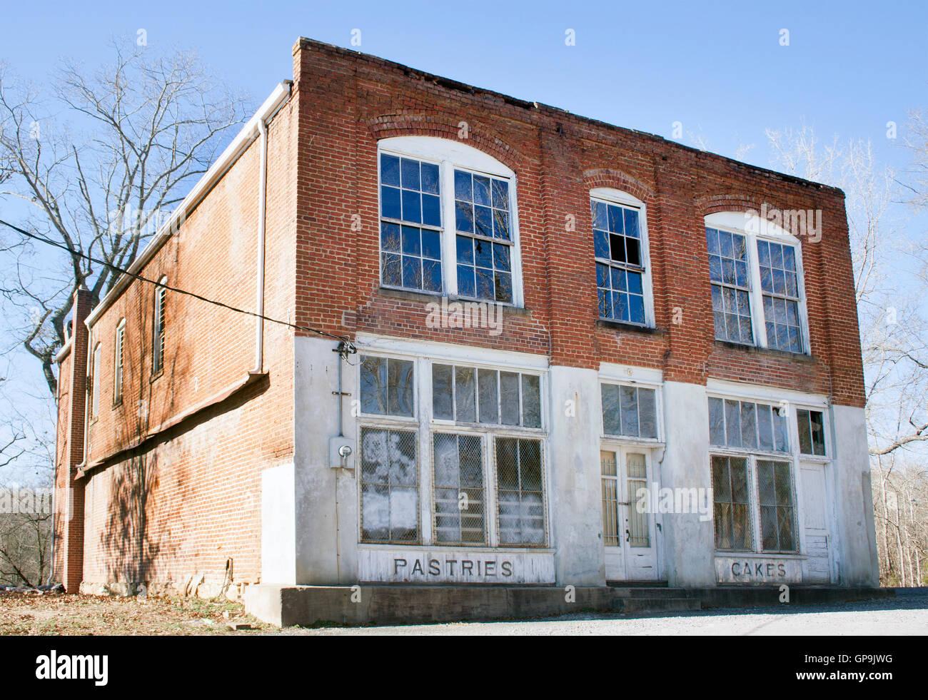 Village des Jeux de la faim dans l'emplacement de Film Hildebran Caroline du Nord. Photo Stock