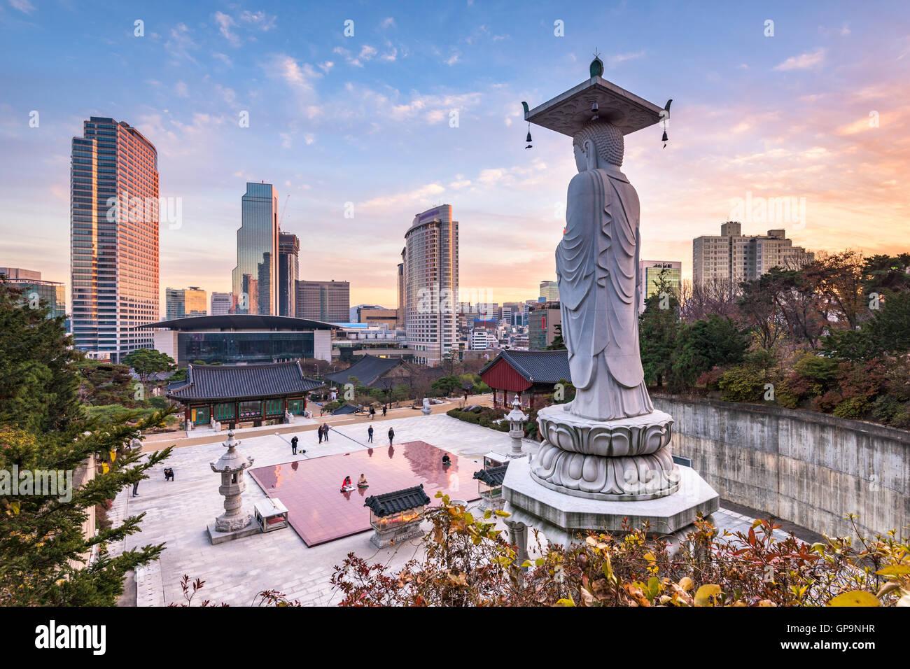 La ville de Séoul en Corée Photo Stock