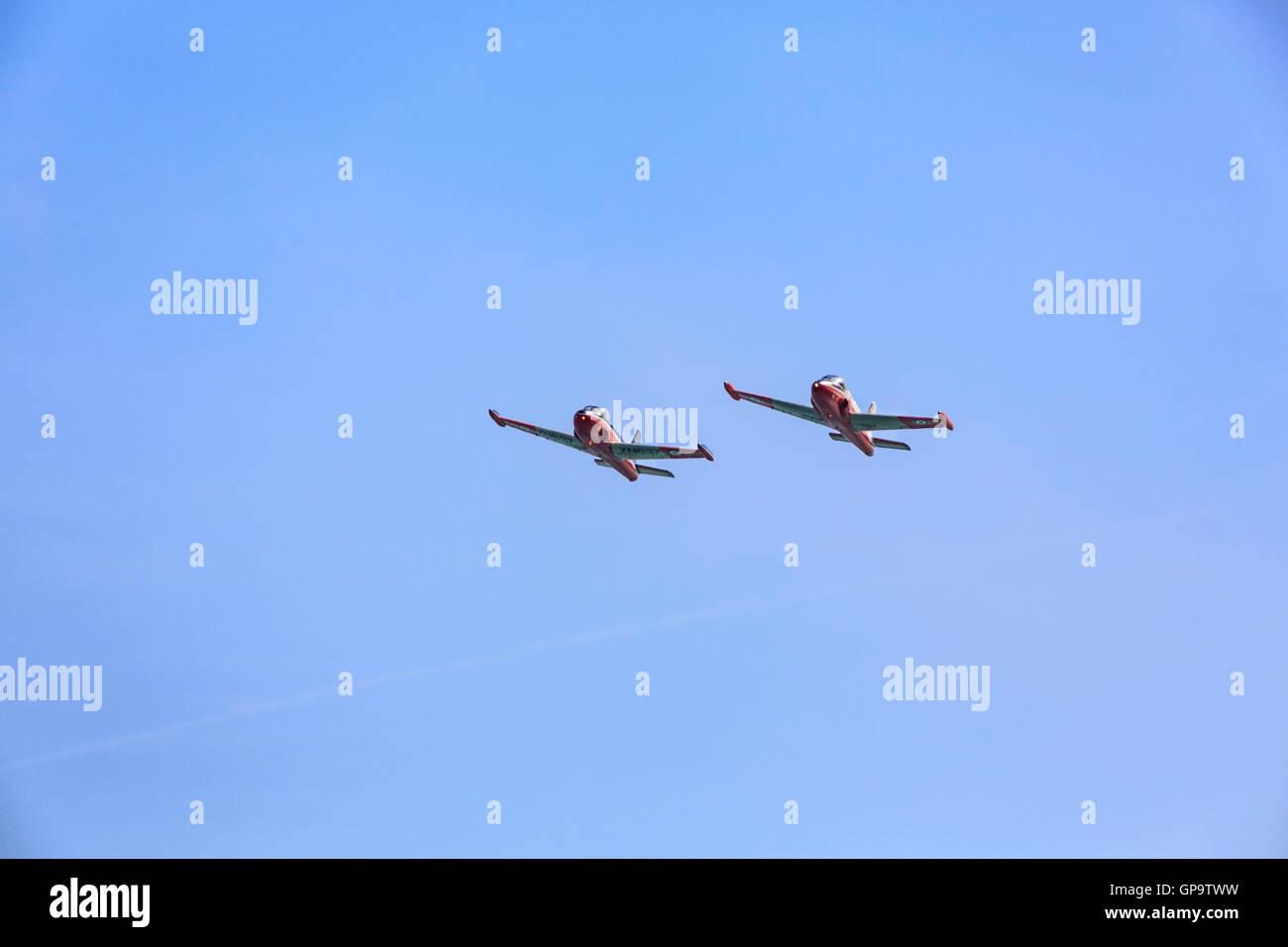 L'équipe Jet Provost en action à l'Airshow 21-07-2013 2016 Eastbourne Banque D'Images