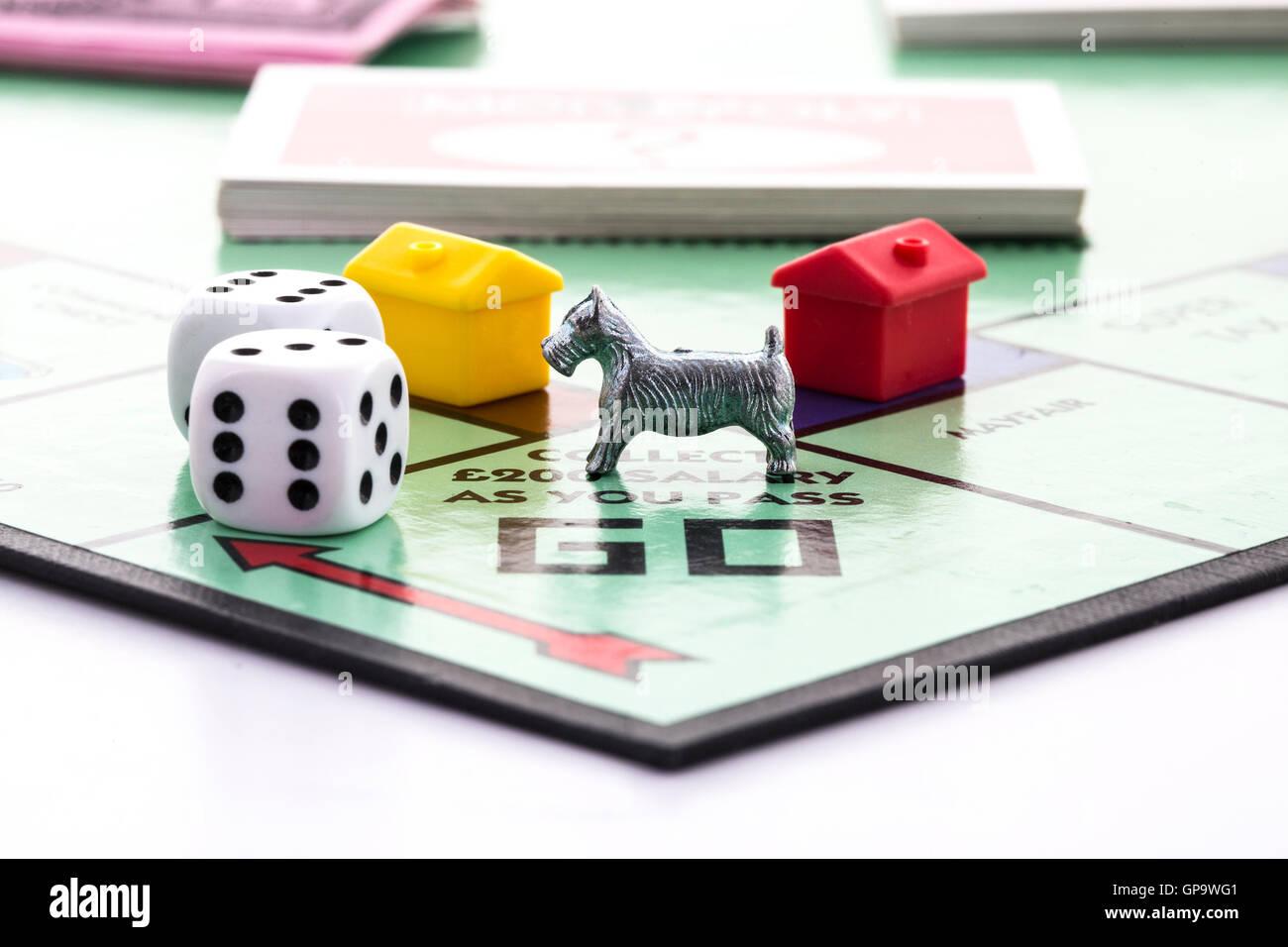 Jeu de Monopoly Banque D'Images