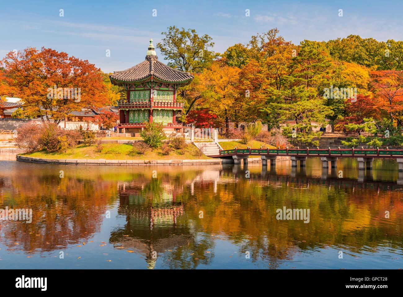 Gyeongbokgung Palace à Séoul, Corée Photo Stock