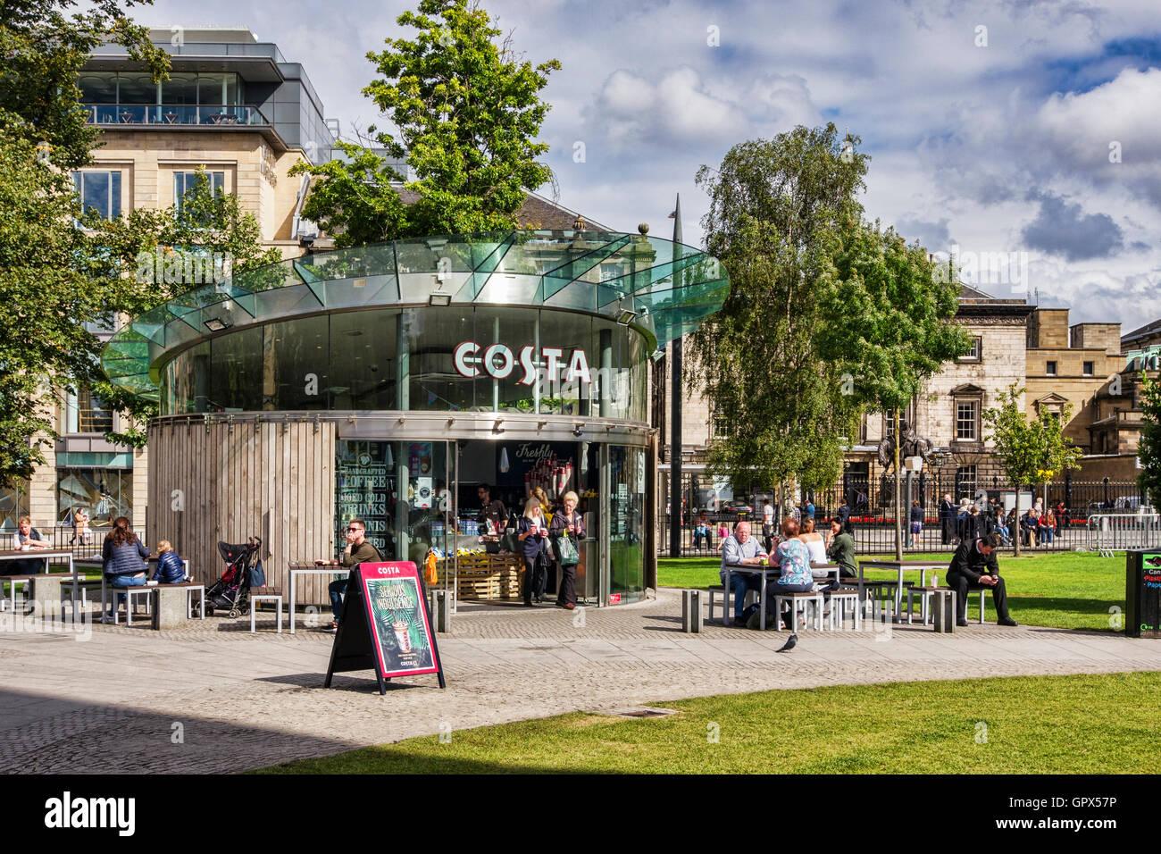 Costa coffee shop à St Andrew Square, Édimbourg, Écosse. Photo Stock