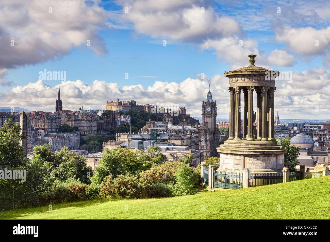 À partir d'Edimbourg Calton Hill au début de l'automne, Ecosse, Royaume-Uni Photo Stock