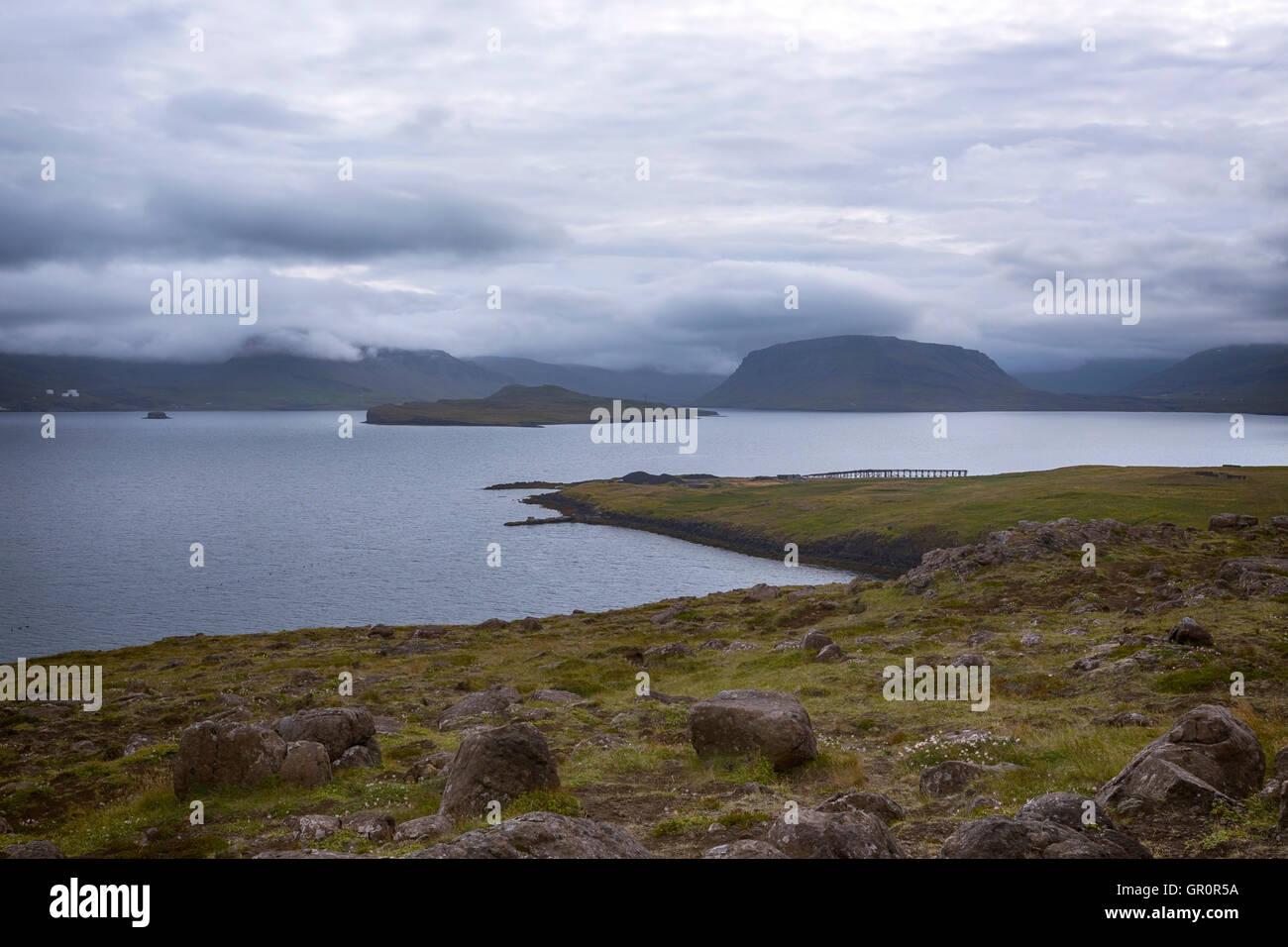Hvalfjordur, Fjord, Islande Photo Stock