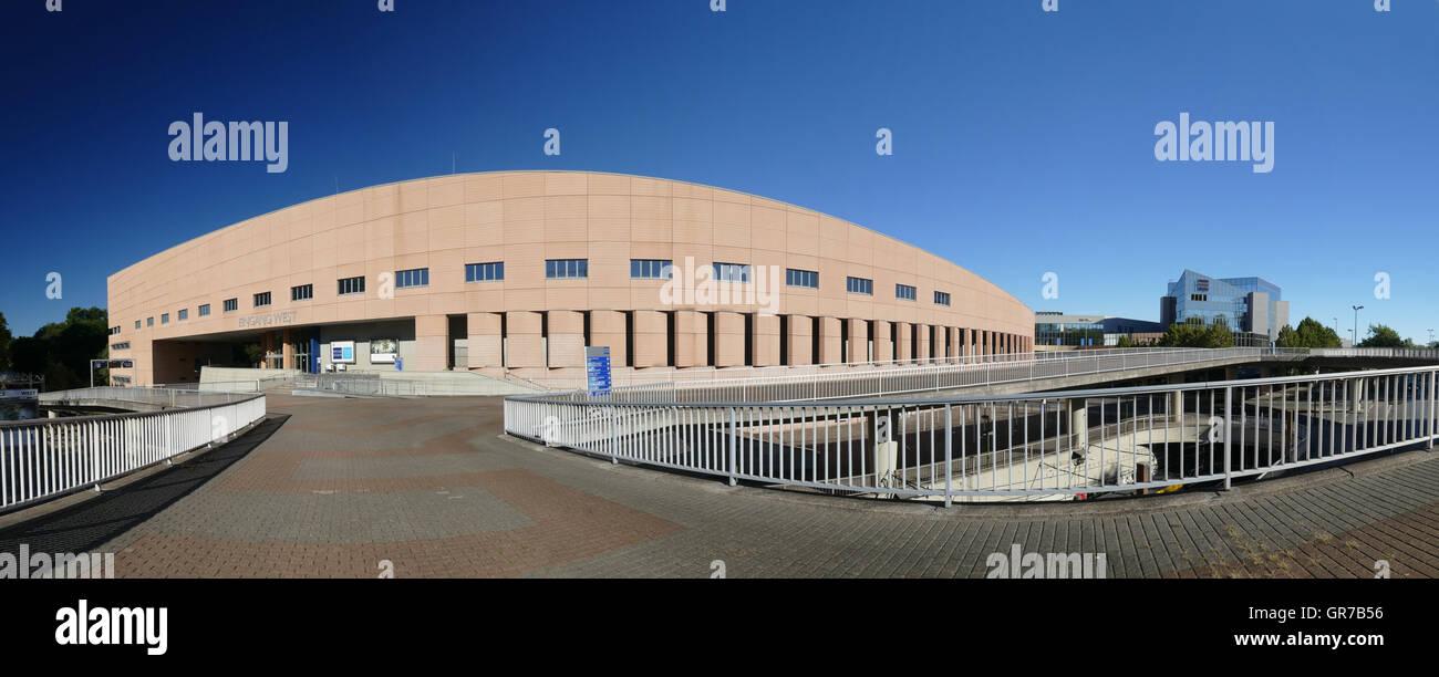 Bâtiment ouest Salon Messe Essen Nordrhein-westfalen Allemagne Europe Westfalan Banque D'Images