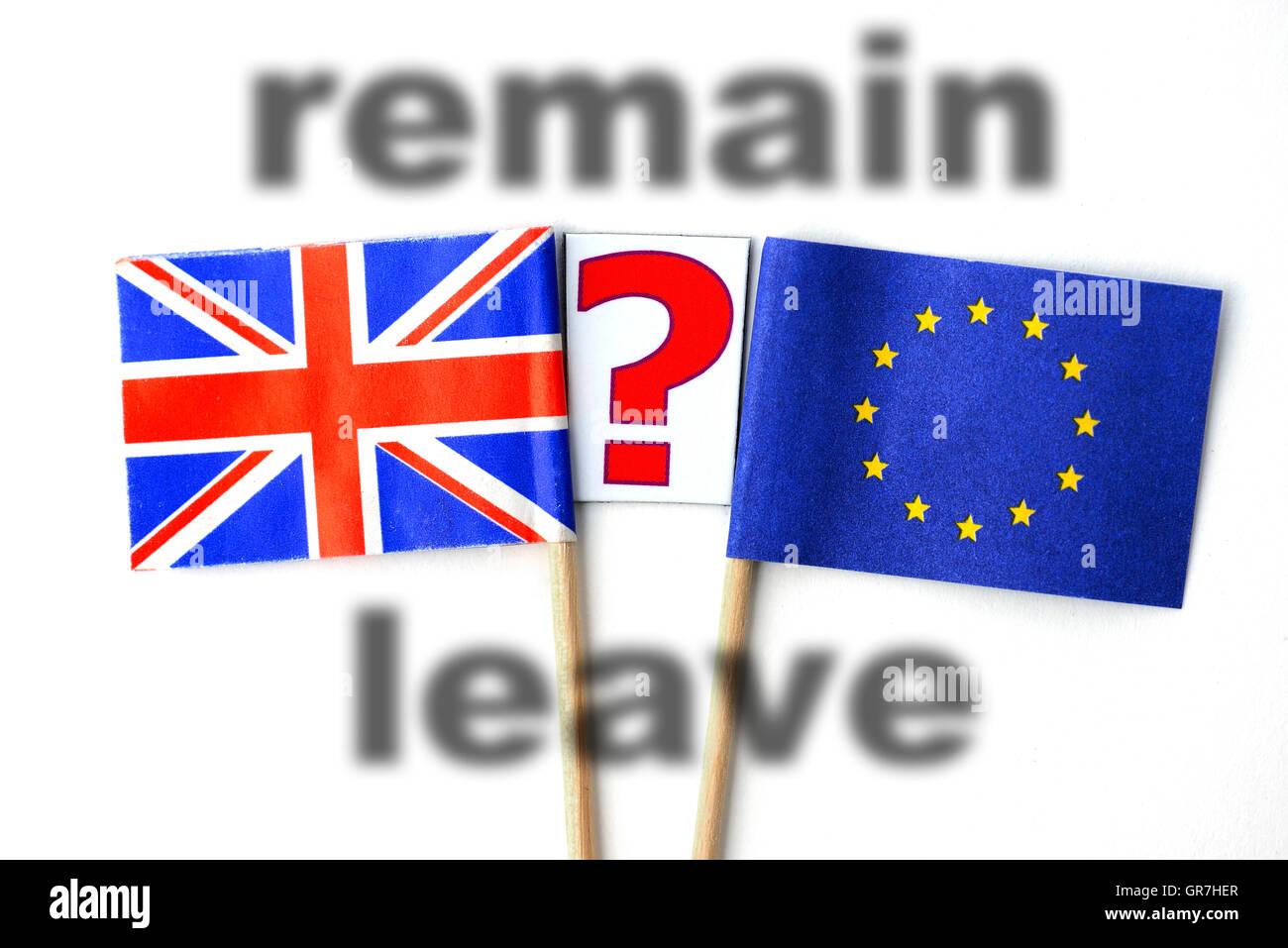 Référendum britannique de l'UE Photo Stock