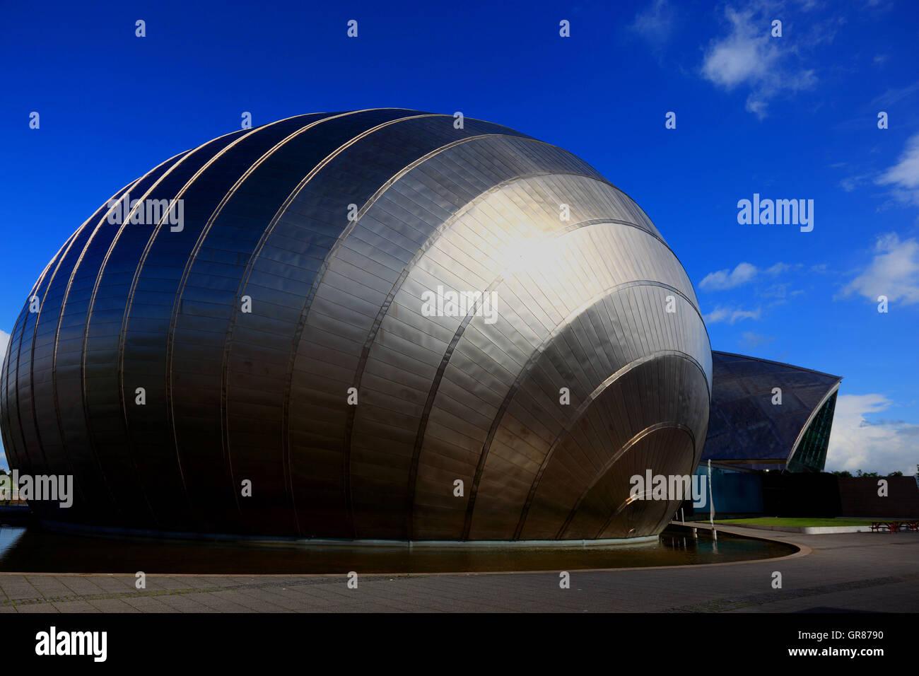 L'Écosse, la ville de Glasgow, le bâtiment du Centre des sciences, Imax, Centre des sciences Banque D'Images
