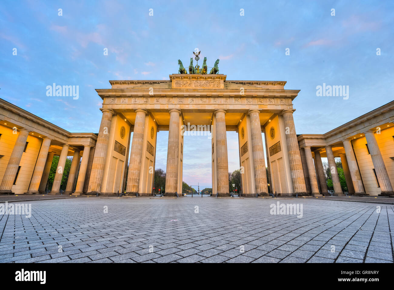 La porte de Brandebourg à Berlin, Allemagne. Photo Stock