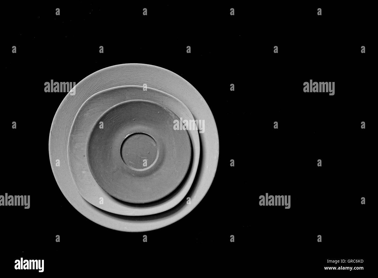Batterie de cuisine vaisselle en porcelaine Couleur Taille Quantité Objet alimentaire Photo Stock