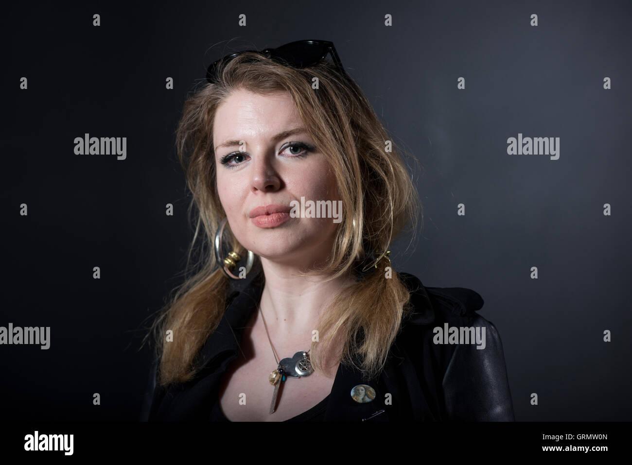 L'écrivain musique Zoe Howe. Banque D'Images