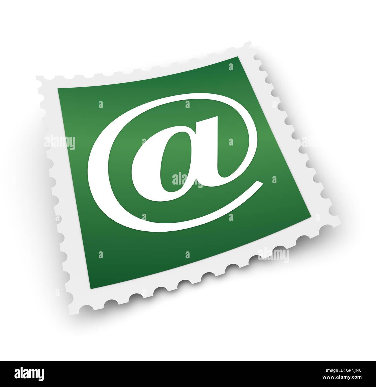 Timbre e mail concept illustration Photo Stock