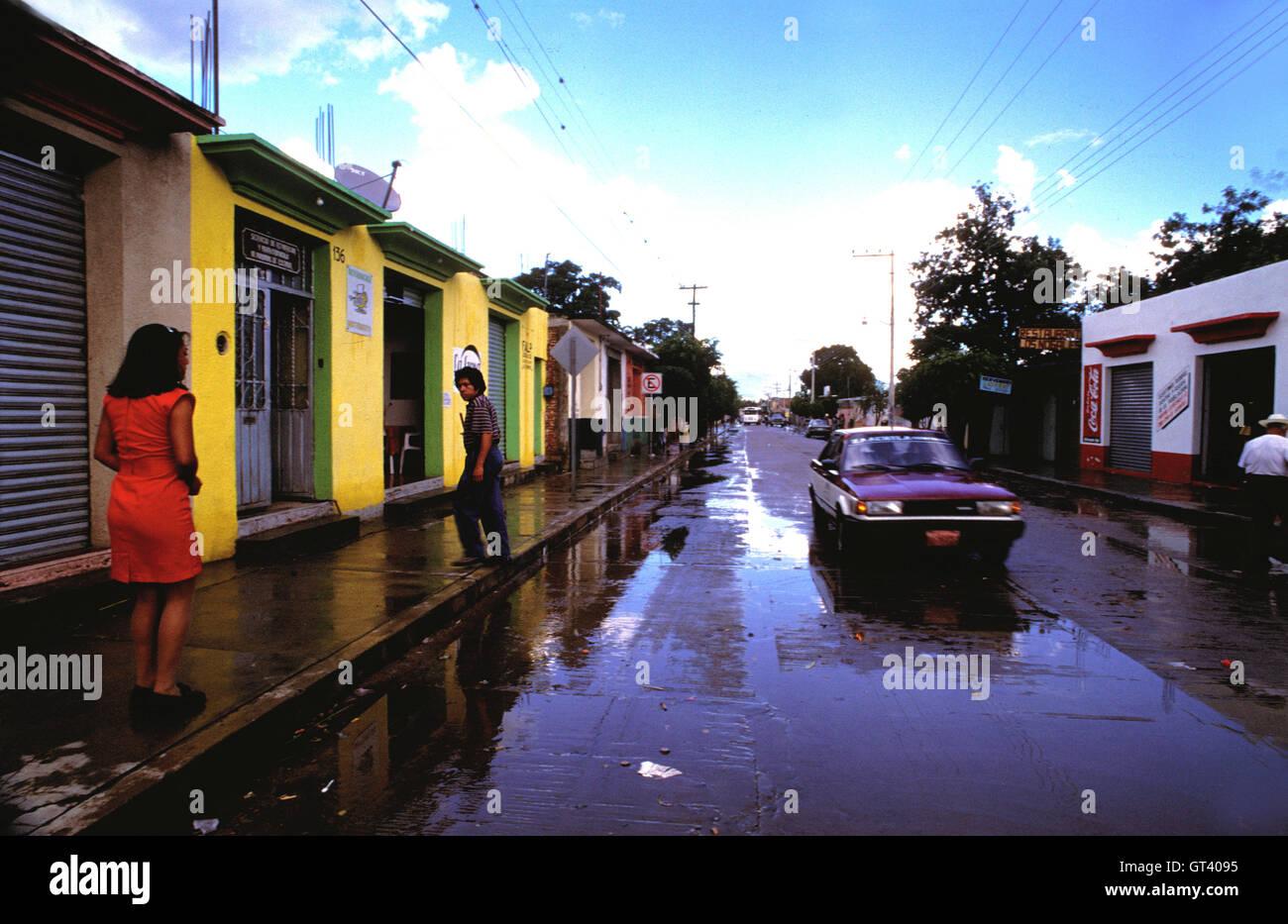 7f543baf61 Zaachila ville après la pluie