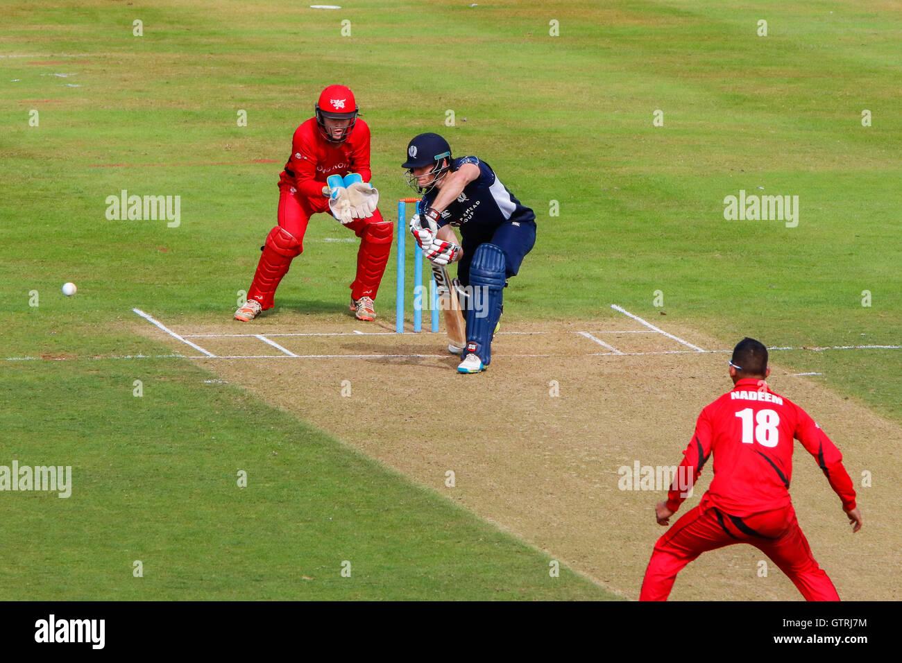 C'est la première fois en Écosse et Hong Kong ont réuni depuis l'ICC 2016 World T20 en Inde, Photo Stock