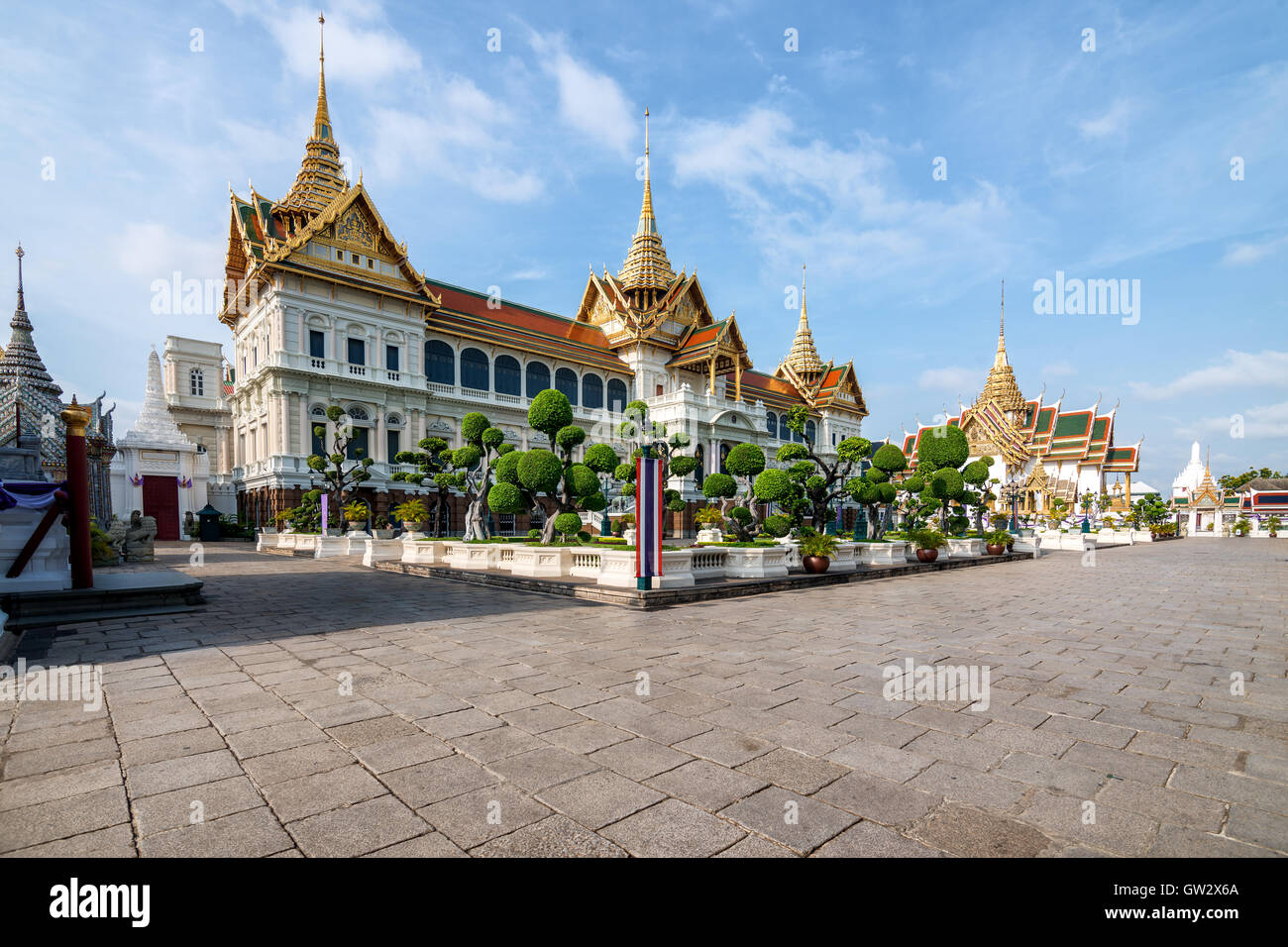 Grand palais royal de la Thaïlande avec ciel de Nice à Bangkok, Thaïlande. Photo Stock