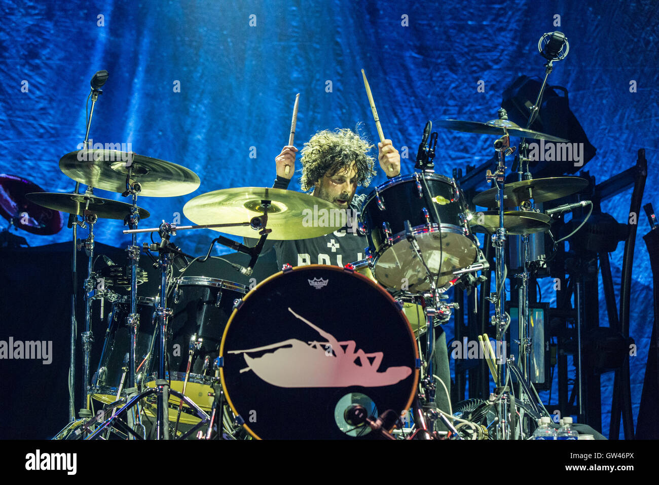 Tony Palermo de Papa Roach à Abbotsford Center le 9 septembre 2016 Photo Stock