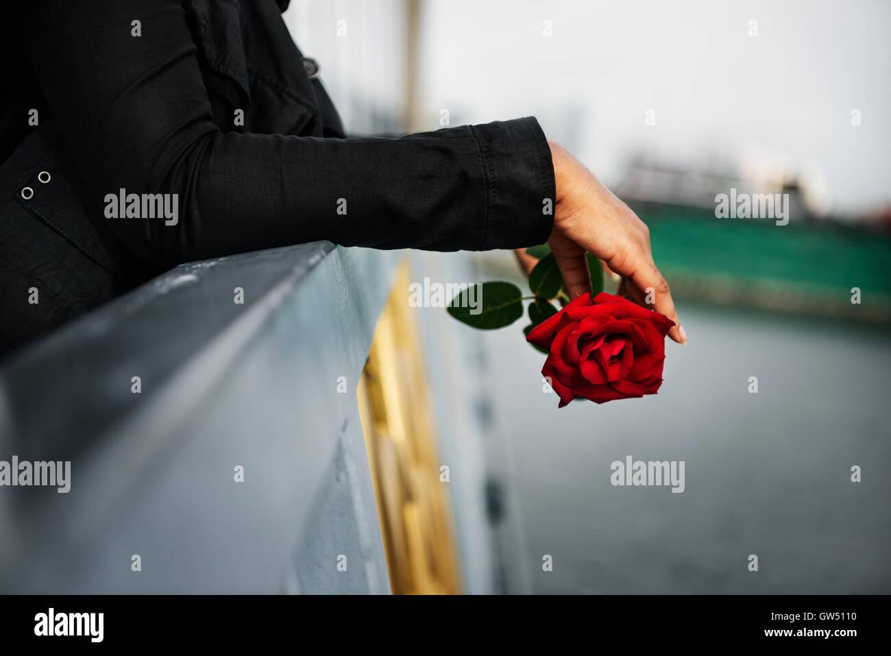 La douleur d'amour déçu dépressif mal Concept cassée Photo Stock
