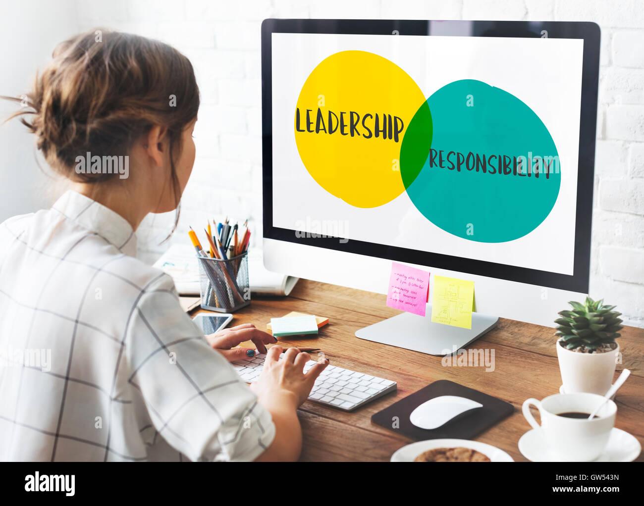 Objectifs Leadership Motivation Idées Concept cercles Photo Stock