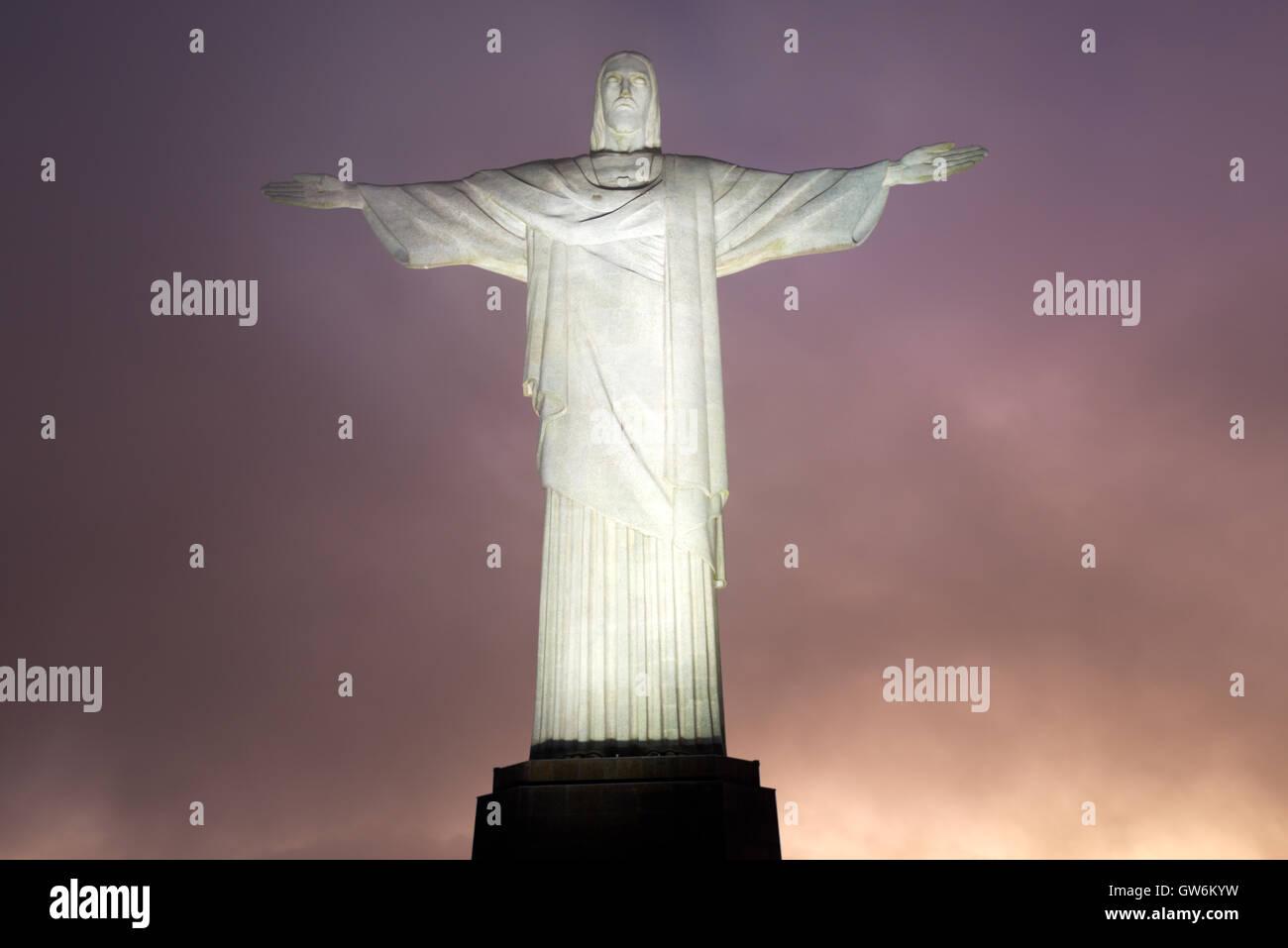 Le Christ Rédempteur, Rio de Janeiro, Brésil Photo Stock
