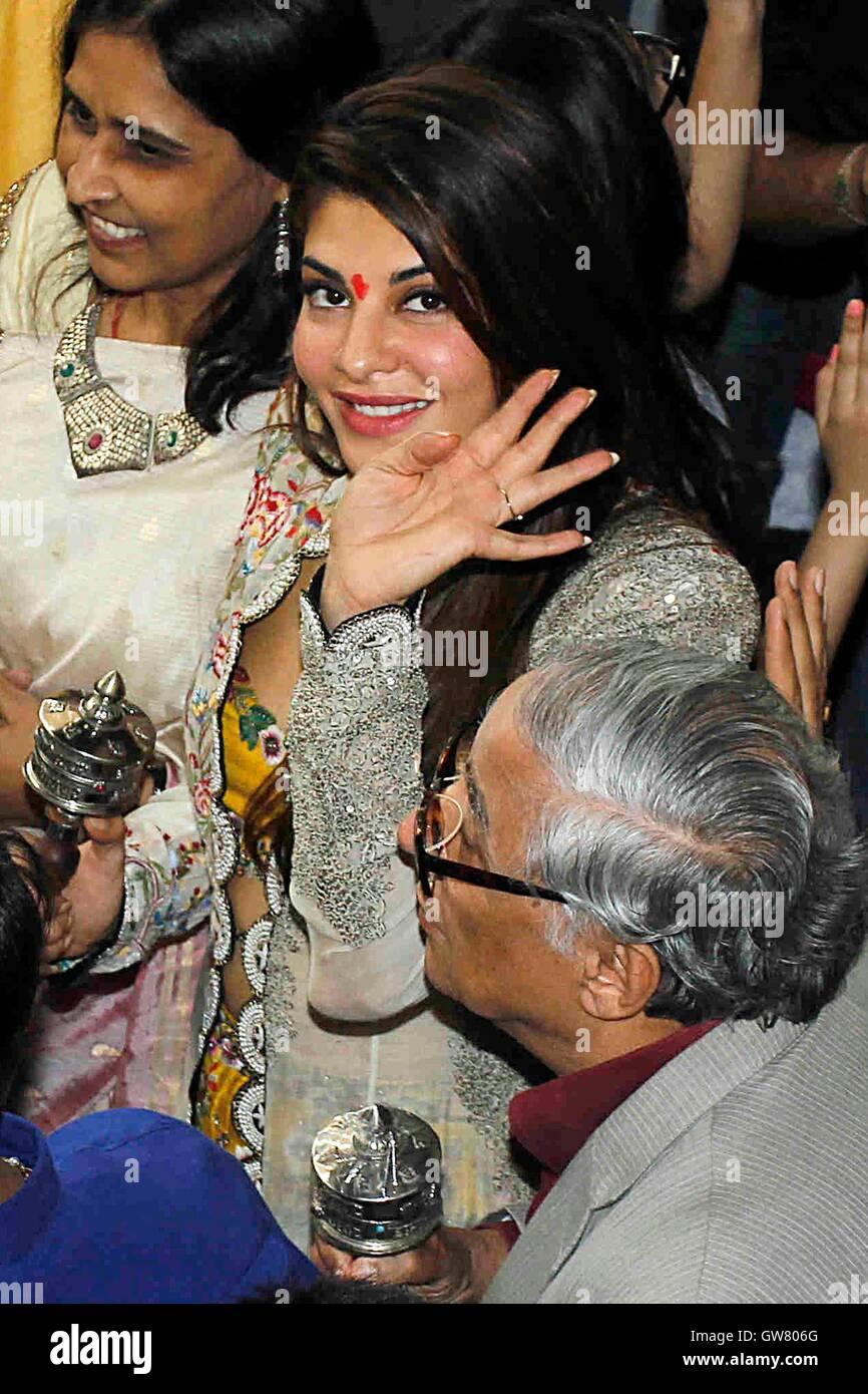 Bollywood acteur Jacqueline Fernandez A Day to Remember-mémoire d'un événement organisé Photo Stock