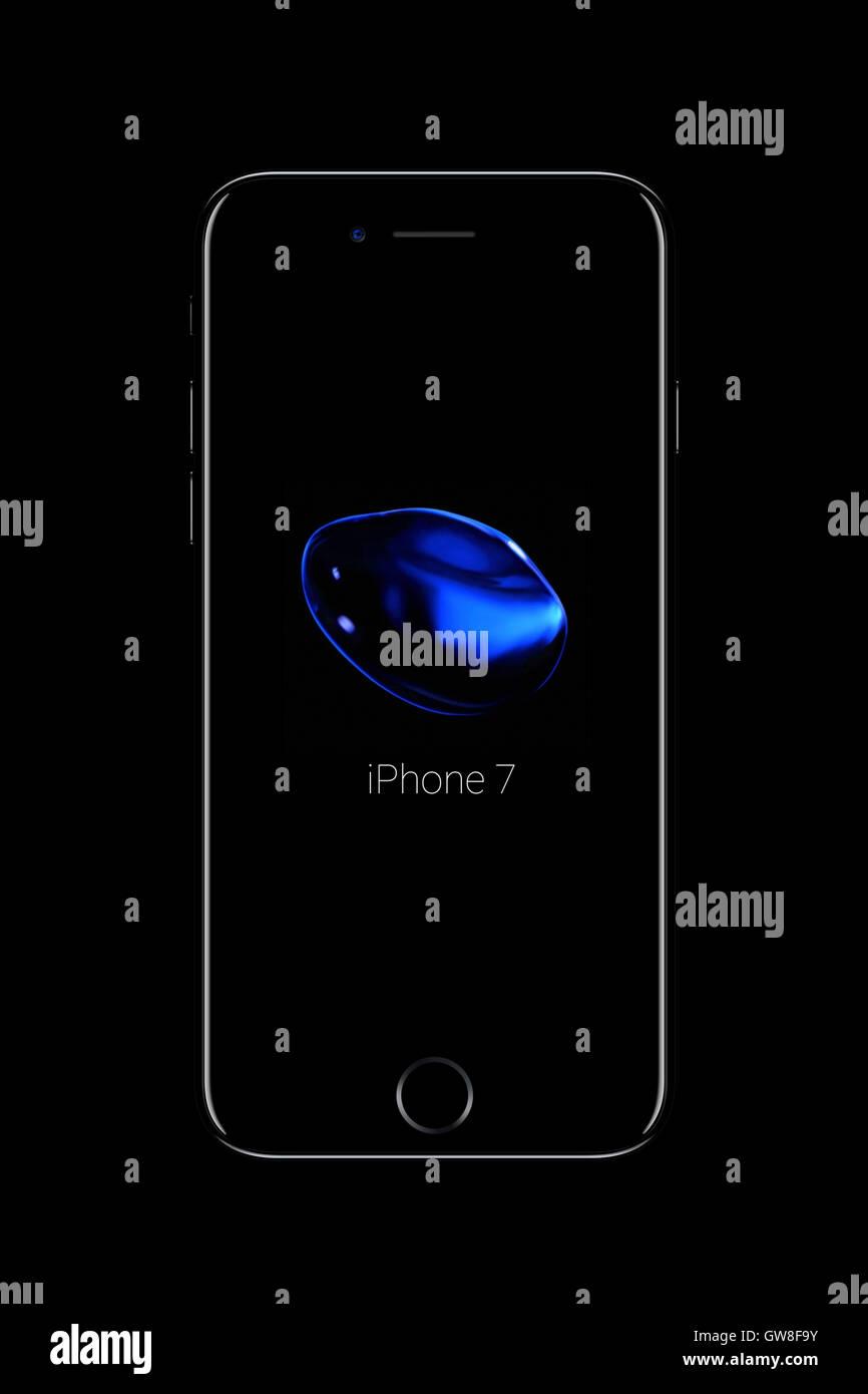 Smart phone iphone 7, des créations numériques. Photo Stock