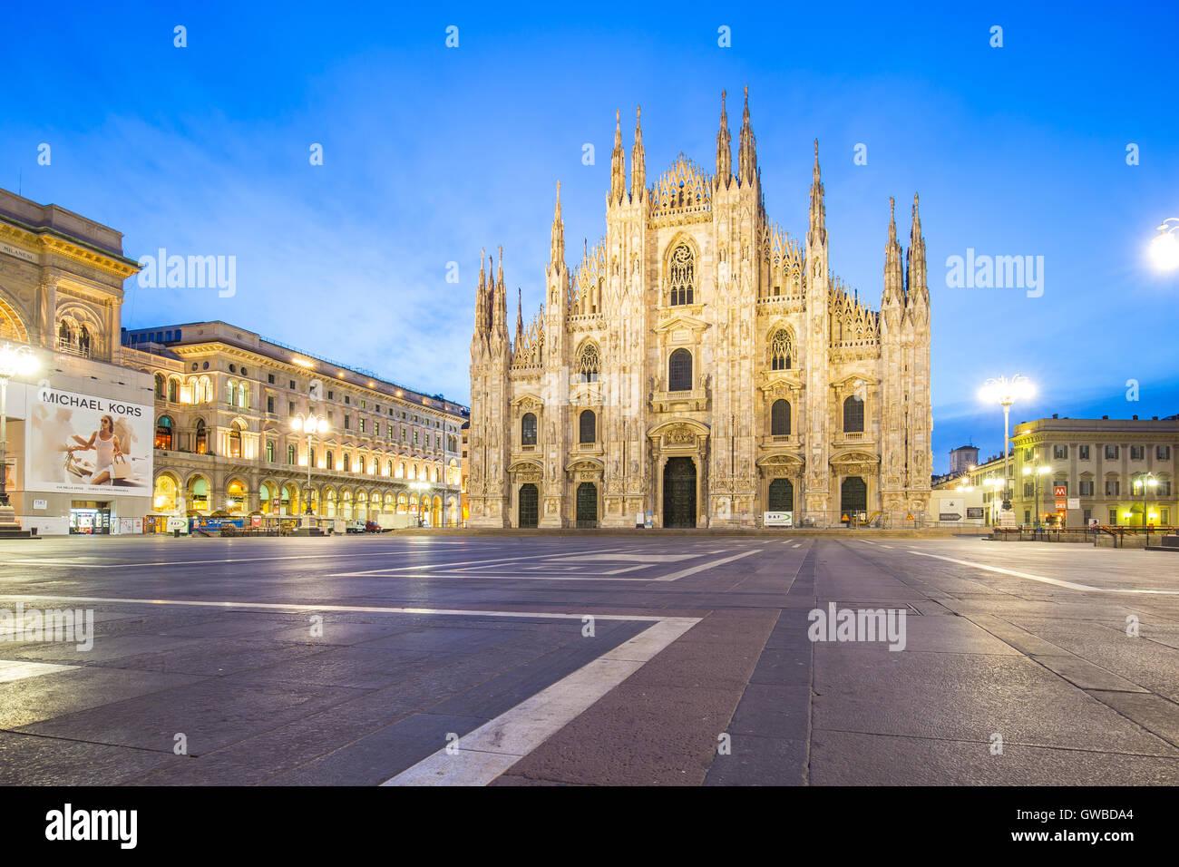 Le Duomo de la cathédrale de Milan à Milan, Italie. Photo Stock