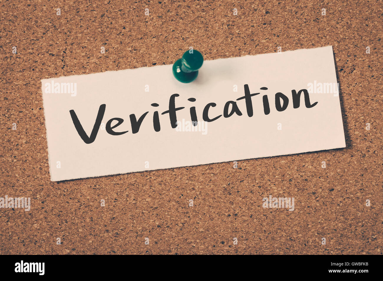 Verification Photo Stock