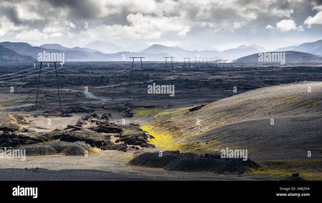 Une journée en Islande landmannalaugar trekking Photo Stock